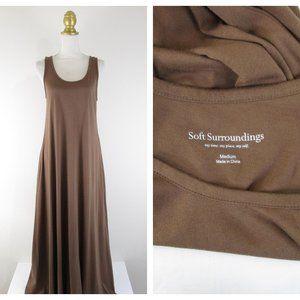 Soft Surroundings Brown Santiago Maxi Dress M